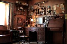 Okay, now this is rad. Many of the design elements would easily belong in my steampunk office.