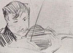 Paris 1887  Violinist Seen from the front  (Amsterdam, Van Gogh Museum)