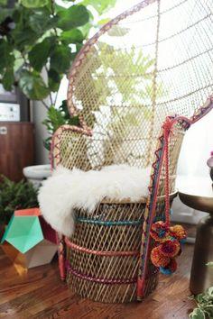 peacock chair DIY | designlovefest