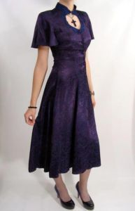 $84.95  90s Purple Rose Corset Lace Goth Dress Steampunk S M    #steampunk #wardrobetheglobe