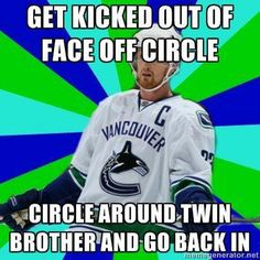 It's a Magic trick by the Sedin bros. Hockey Memes, Hockey Quotes, Sports Memes, Funny Hockey, Hockey Baby, Ice Hockey, Rangers Hockey, Hockey Season, Vancouver Canucks