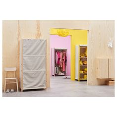 Get yourself sorted with products from IKEA, with storage boxes made from bamboo like RABBLA, or fabric boxes. Add-ons to your IVAR storage units too with a rolled up cover that can turn them into wardrobes. Metal Shelving Units, Wire Shelving, Shelves, Ikea Storage Furniture, Ivar Regal, Armoire, Simple Wardrobe, Clothes Rail, Pallets