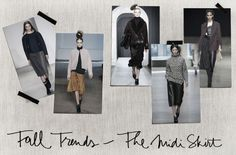 Fall Trends: The Midi Skirt -