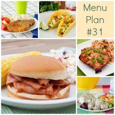 RMK menu plan week 31 with printable shopping list