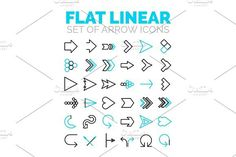 Set of vector flat linear premium icons. Premium Icons