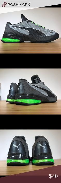 best website 42bfd 2db49 Puma Reverb Mesh Mens Running Shoes size Puma Reverb Mesh Men Running Shoes  Grey Green Rare Colorway Size Pre-owned, like-new condition. Barely used  Puma ...