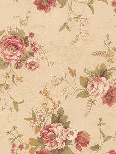Via Paper - Papel de Parede P+S International - Mystique - 989-64868- Floral com Tons de Verde, Amarelo, Bege e Vermelho