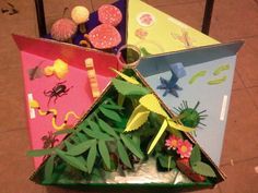Maqueta los 5 reinos Science And Nature, Minions, Origami, Arts And Crafts, Gift Wrapping, Teaching, School, Projects, Fun