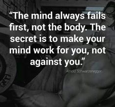 The mind-body connection ... train your thoughts as well as your body.  :-D