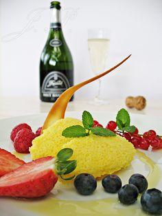 Mousse de cava con fruta :: Šampaňská pěna s ovocem