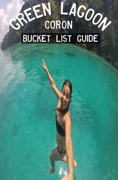 Green Lagoon Coron, is located minutes far from the port of Coron Island, north Palawan. How to get to the Green Lagoon Coron Travel Route, Places To Travel, Travel Destinations, Places To Visit, Bali Travel, Thailand Travel, Backpacking Asia, Coron, Palawan