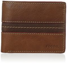 Fossil Men's Bruce Traveler Wallet, Camel, One Size Fossil - Amazon.com - $32