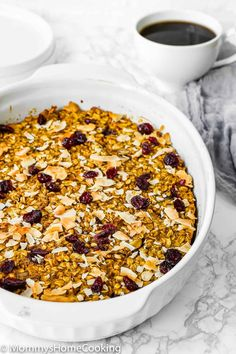 32 reviews · 50 minutes · Vegan Gluten free · Serves 8 - This Easy Eggless Pumpkin Baked Oatmeal is the perfect breakfast any day of the week! Hearty, filling, and yummy, this baked oatmeal is what you have been looking for to start your day off right. Plus, it's super easy and can be made in advance. @mommyhomecookin #recipe #eggfree #eggless #egglessbaking #eggallergy #oatmeal #baked #breakfast