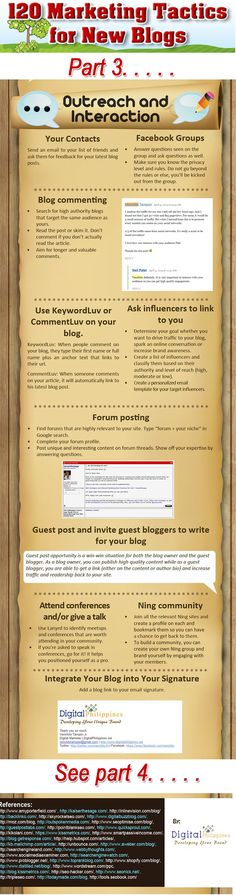 120 tips to promote your #Blog #business #socialmedia Part 3 of a 9 part series. #infographic www.socialmediamamma.com