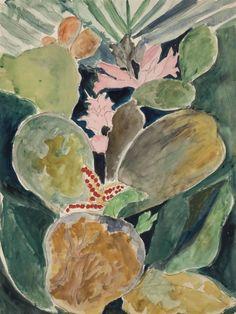 Joseph Stella (American, 1877-1946), Flowering Tropical Cactus, c.1938.