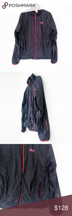 "HELLY HANSEN H2 FLOW waterproof windbreaker mens m HELLY HANSEN  waterproof. compact. polartec fleece lined. air flow vents. temperature regulation technology. 100 poly.  men's medium  laid flat, seam - seam: chest: 21"" collar - cuff: 33"" underarm - cuff: 24.75"" nape - hem: 27""  excellent, pet/smoke free.   h2flow yachting boating golf bicycle cycle cycling packable midlayer athletic activewear nike adidas mid layer patagonia arcteryx bogner ski shirt jacket wind breaker hiking women large…"