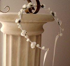 Ivory Wedding Hair Accessory Flower Crown Bridal by AmoreBride,