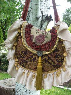 Bohemian Gypsy Carpet Bag Tote Hippie Purse by Fairybelles on Etsy. $50.00, via Etsy.