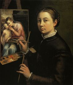 Self-portrait at the Easel, 1532    Sofonisba Anguissola