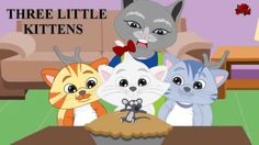 Three little kittens lost their mittens nursery rhyme Abc Song For Kids, Kids Songs, Little Kittens, Kittens Cutest, Baby Nursery Rhymes Songs, Abc Songs, Wheels On The Bus, Cute Kitten Gif, Three Little