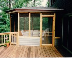 screen porch ideas | Screen Porches - Bowie Home Improvements Inc....TIE IN TO SIDE OF HOUSE