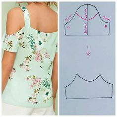 Easy 50 Sewing tutorials projects are readily available on our site. Take a look and you wont be sorry you did. Dress Sewing Patterns, Blouse Patterns, Clothing Patterns, Blouse Designs, Costura Fashion, Sewing Sleeves, Sewing Blouses, Fashion Sewing, Top Pattern