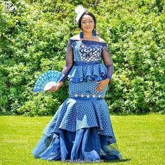 Awesome Collection of Traditional Shweshwe Attire For You - Reny styles Awesome Collection of Traditional Shweshwe Attire For You, We accept got this alarming accumulating of Traditional Shweshwe Attire African Bridesmaid Dresses, African Wedding Attire, African Print Dresses, African Print Fashion, African Attire, African Fashion Dresses, African Dress, African Clothes, African Men