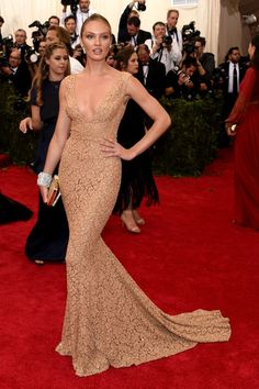 Candice Swanepoel. See all the looks from the 2015 Met gala.