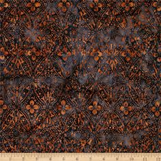 From Timeless Treasures, this Indonesian batik is perfect for quilting, apparel and home decor accents.  Colors include shades of gold and shades of navy.