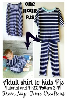 one hour pjs #sewforkids #freepattern #sewing