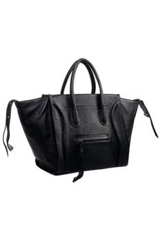 Whitney Cowhide Leather Bag Black