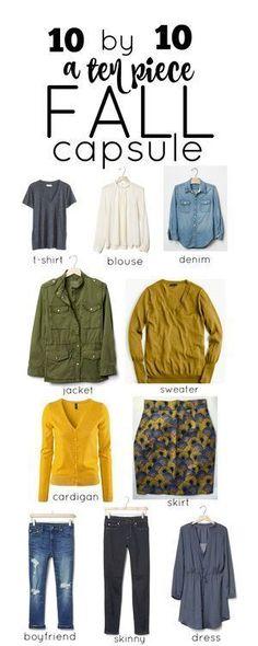 My 10 Piece Fall Capsule Wardrobe