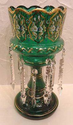 Victorian  Green Lustre Vase. very good condition. circa 1880