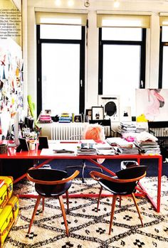Jenna Lyons' office at J. Crew Headquarters|10 Best Office Spaces | Camille Styles
