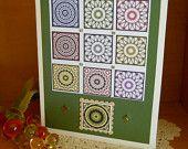 Colorful Mandala Card Birthday, Get Well, Hello, Friendship Green