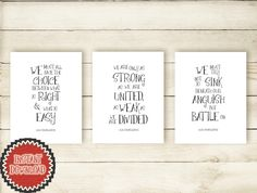 Albus Dumbledore School Counselor Gift Set of Three 3 Harry Potter Patriotic Political Quote Prints, We must all face the choice Art 1300D by Framedbyu on Etsy https://www.etsy.com/listing/278652198/albus-dumbledore-school-counselor-gift