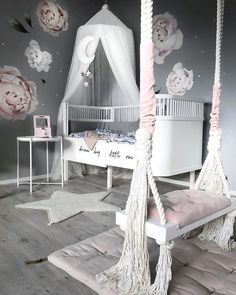 11 Cute Nursery Baby Room Ideas for Baby Girl Girls Bedroom Decor Cute Bedroom Ideas, Cute Room Decor, Baby Room Decor, Bedroom Decor, Room Baby, Playroom Decor, Nursery Ideas, Babyroom Ideas, Nursery Themes