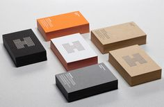 Logo and business card with coloured paper and foil detail designed by Spy for architecture firm Haverstock