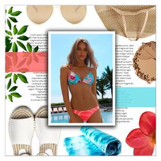 """""""beach babe"""" by oubliettte ❤ liked on Polyvore featuring Flora Bella, Bourjois and Loewe"""