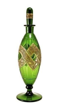 1920s Moser-Czechoslovakian perfume bottle and stopper, by charity