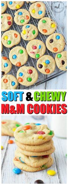 M&M Cookie Recipe for Soft and Easy Homemade Cookies, easy recipe for perfection every time #cookies #candy