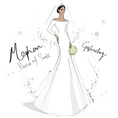 Here it is!! My sketch of the beautiful @givenchyofficial Wedding Dress worn by Meghan Markle. I think we will look back in years to come…
