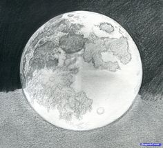 how to draw the moon, Step 20