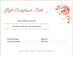 Christmas gift certificate template for him or her gift professional in appearance this holiday gift certificate template is user friendly and customizable so that you can customize it to fit your business yadclub Images