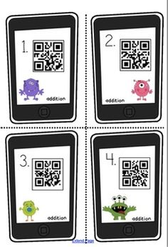 Make math fun and exciting by using QR codes! Just scan each barcode with any free QR reader on your iPad, iPhone, or iPod touch. Each QR code reveals a number that the students will write down and illustrate with the appropriate number of base ten blo Math Stations, Learning Stations, Math Centers, Math Classroom, Kindergarten Math, Teaching Math, Math Place Value, Place Values, Common Core Curriculum