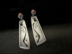 Lily of the Valley Earrings: Brittany Foster: Silver & Stone Earrings - Artful Home