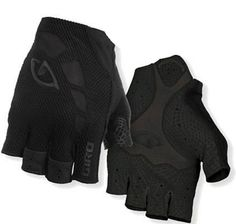 Giro Zero Gloves, Mono Black, Medium. Lightweight, slip-on design, moisture wicking 4-way stretch, breathable mesh. Welded mesh ventilation panels. Palm: Super Fit Engineered three-panel design and Pittards Microvent leather. Fingertip tear-off pockets, highly absorbent microfiber wiping surface. Sonic-welded pull tab.