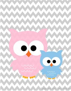 Two CU-HOOT owls :) FREE Nursery art Printable! from giggleandprint.blogspot.com