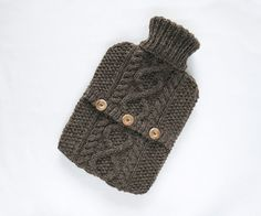 Sandstone hot water bottle sweater / cover  by ACrookedSixpence