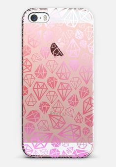 Pink Diamonds | Geometric girly boho bohemian chic white sketch iPhone SE case by Coral Antler Creative | Casetify
